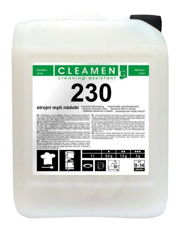 CLEAMEN 230 strojní mytí nádobí