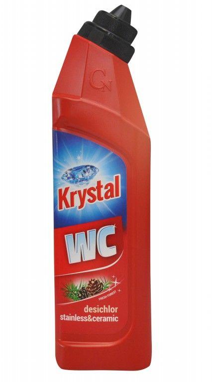 Krystal WC zásaditý na nerez a keramiku červený