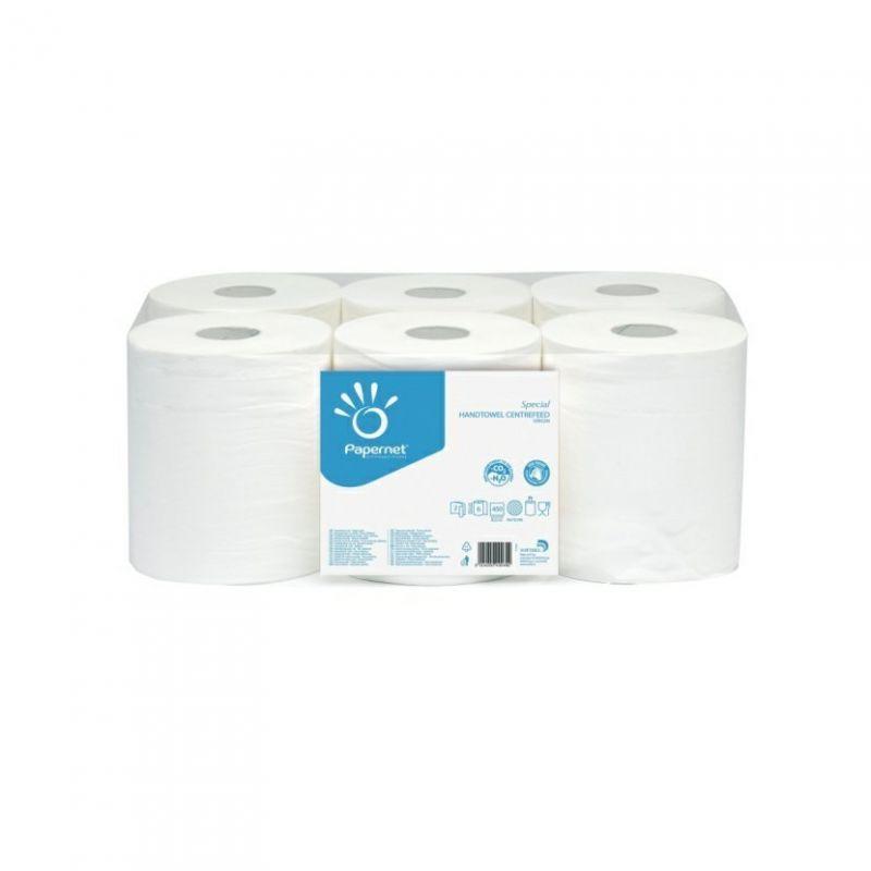 Papírové ručníky ACTION 450, 2 vrstvé, 138 m, šíře 20 cm, balení po 6ks