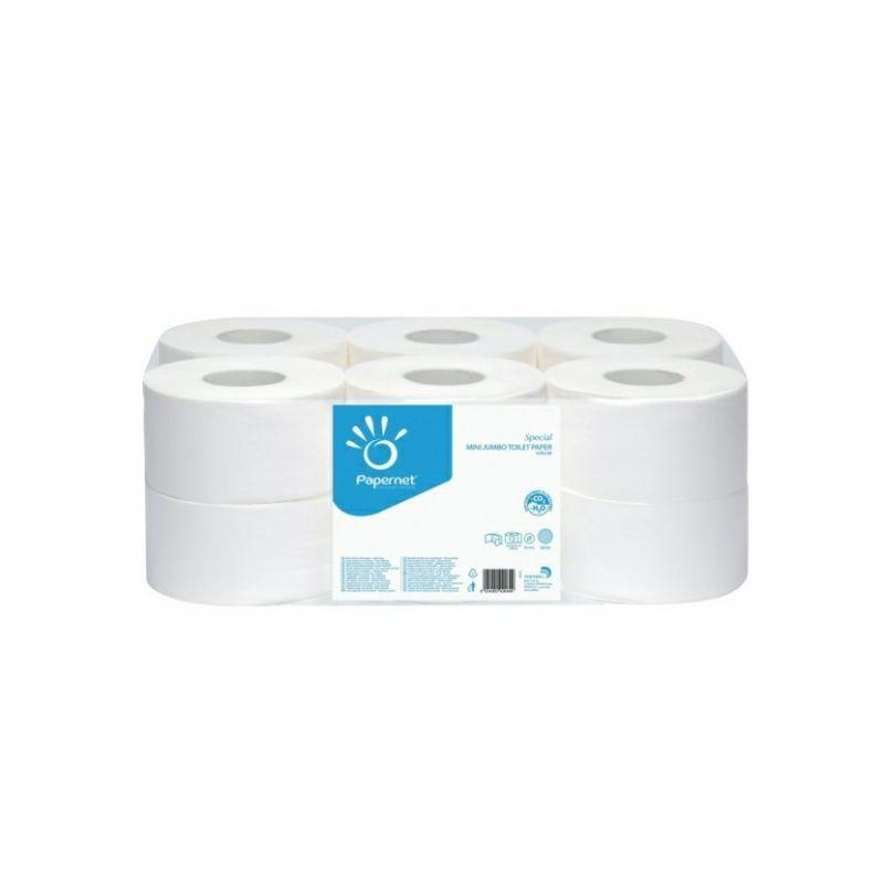 Toaletní papír JUMBO OVER, průměr 19 cm, 2-vrstvý - bílý, 140 m